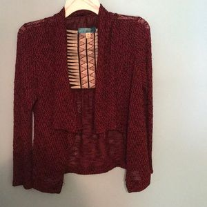 Cardigan with design on back